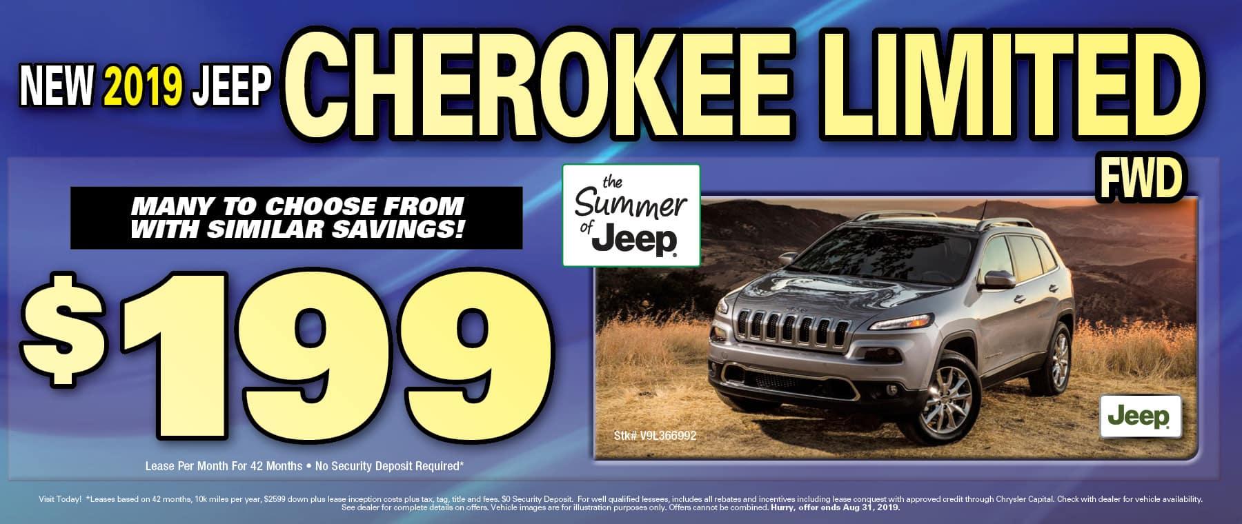 New 2019 Jeep Cherokees!