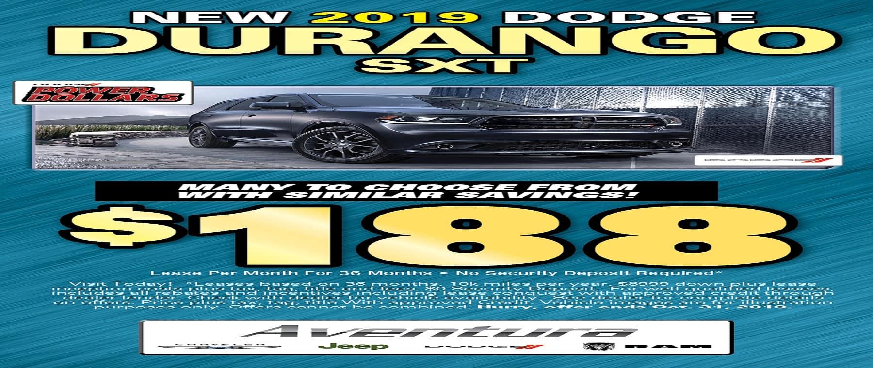 Durango $188 Lease