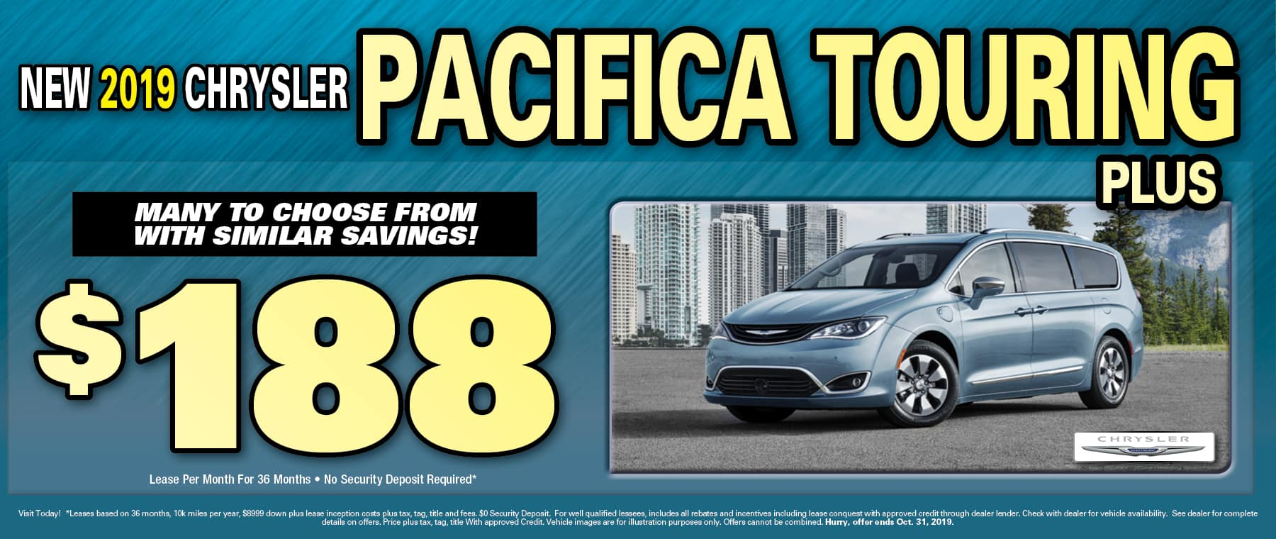 New Chrysler Pacificas!
