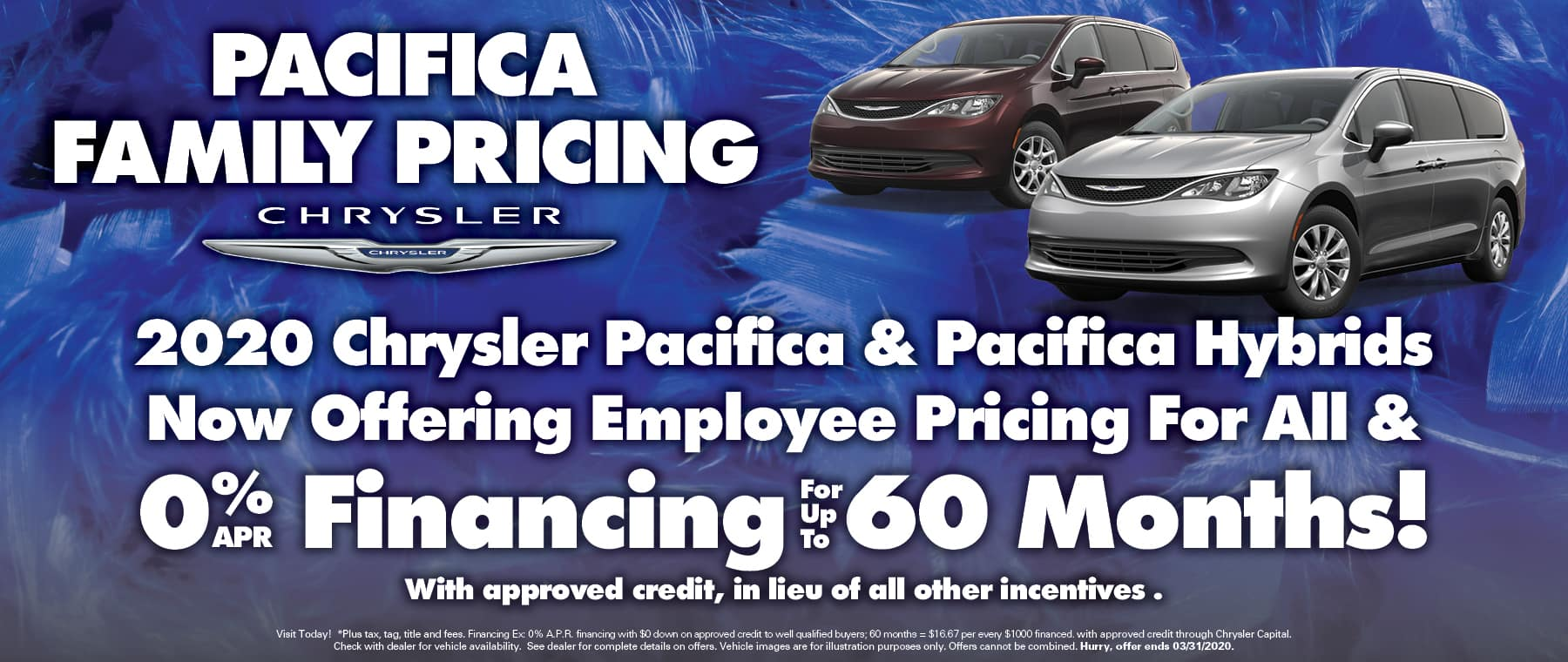 Pacifica Employee Pricing + 0% financing
