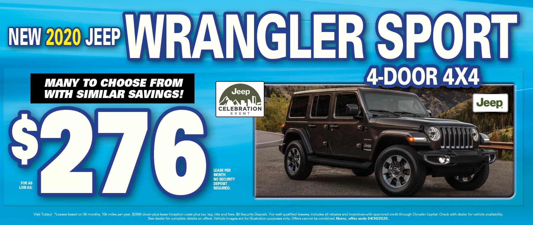 Wrangler $276 Lease