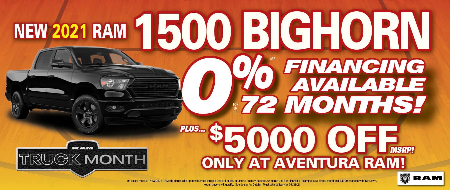 Bighorn 0% + $5000