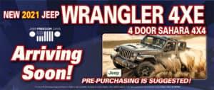 Wrangler 4XE coming soon