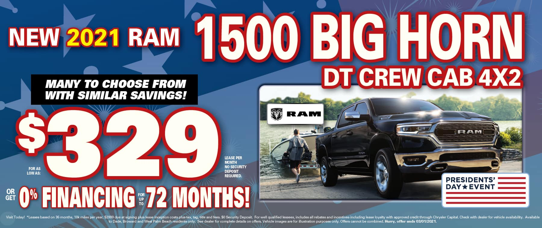 Ram Lease and 0% financing