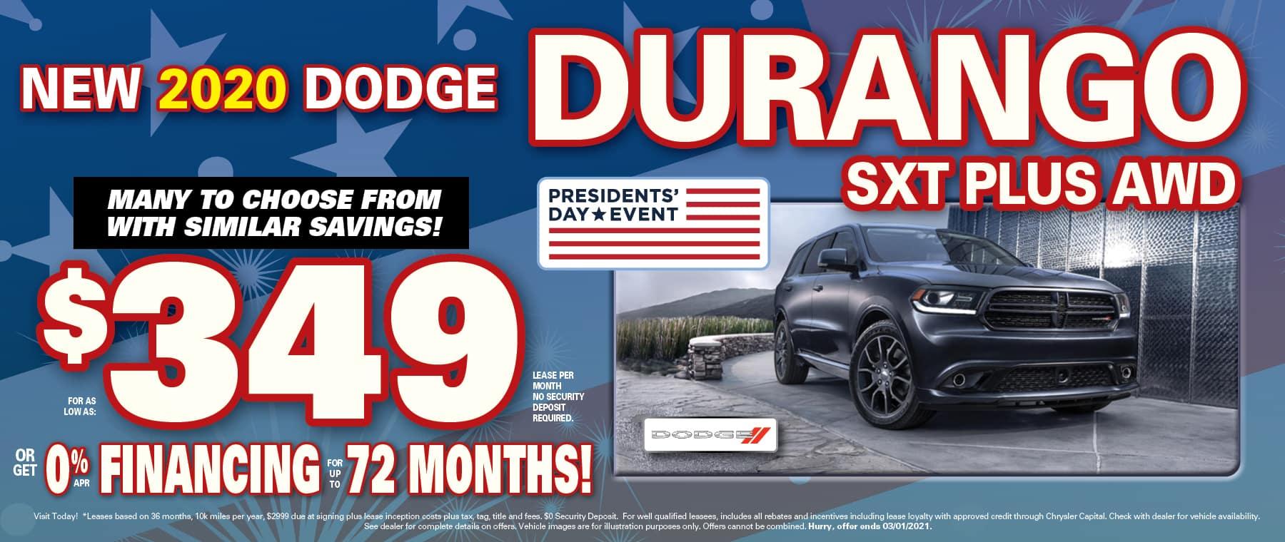 Durango $349 Lease