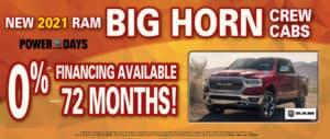 0% x 72 months Ram Bighorn Crew