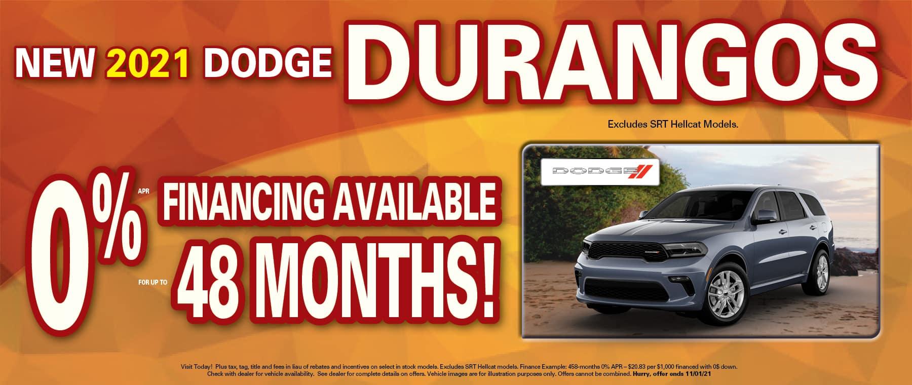 Durango 0% x 48 months