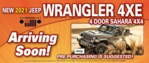 Wrangler 4xe Arriving