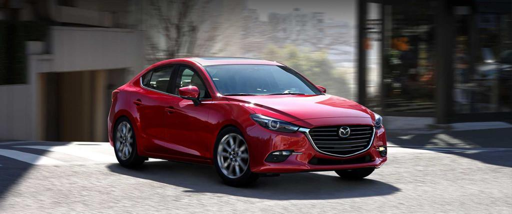 red 2017 Mazda3