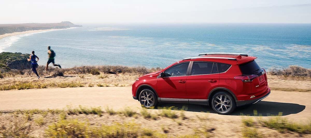 Toyota RAV4 SE Driving By Beach