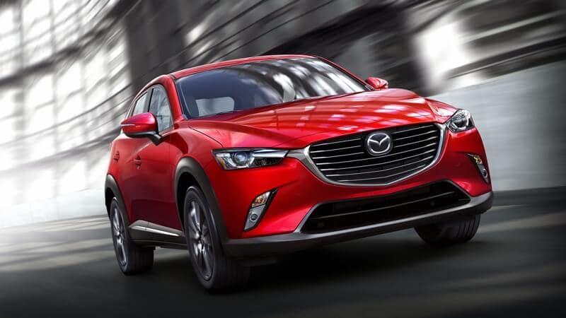 2018 Mazda CX-3 red exterior models