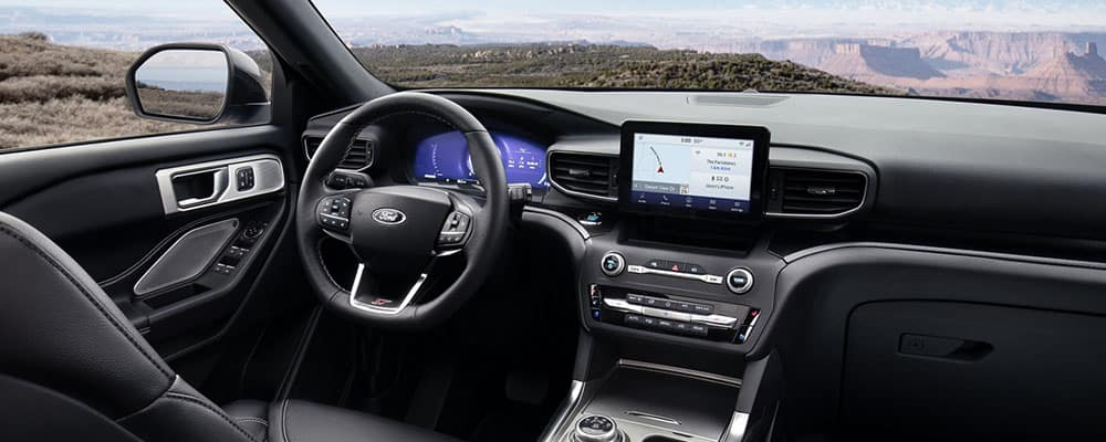 2020 Ford Explorer view from interior banner