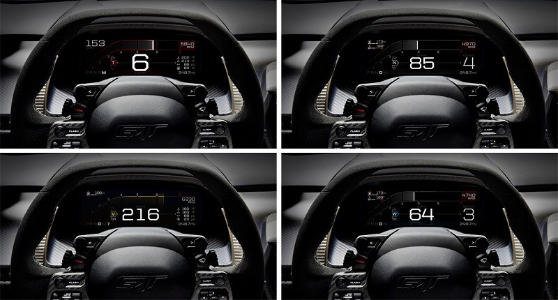 Digital Instrument Display in Ford GT | Beach Ford