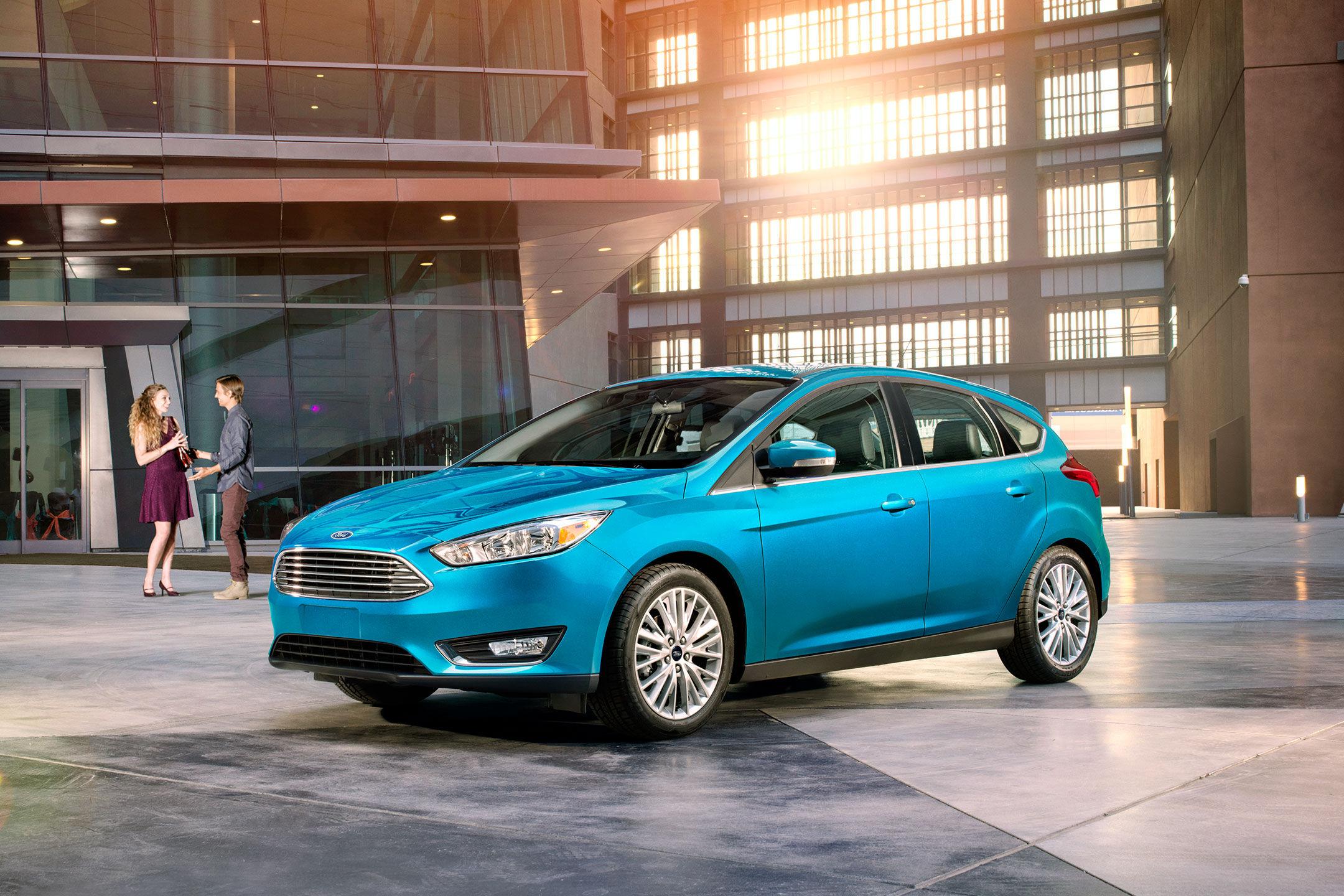2017 ford focus hatchback blue candy
