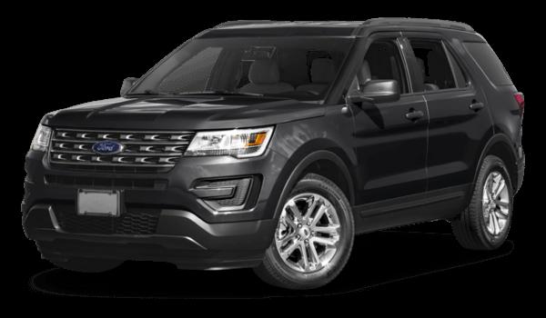 2017 Ford Explorer white background