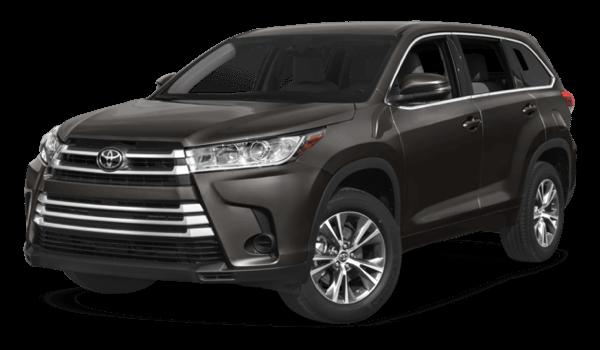 2017 Toyota Highlander white background