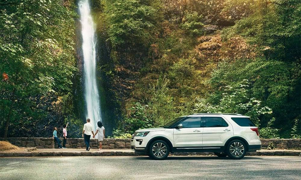 2018 Ford Explorer Platinum Waterfall
