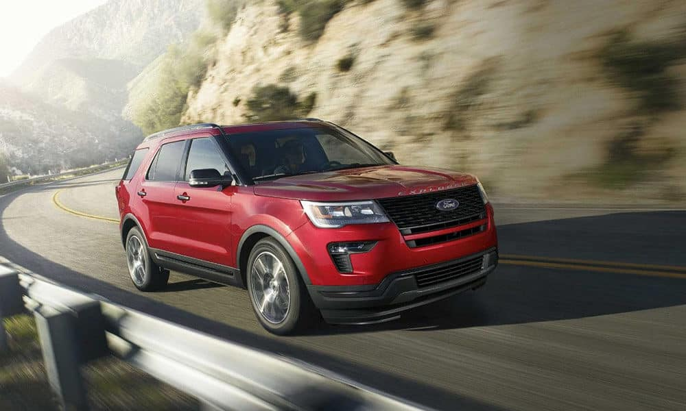 2018 Ford Explorer Sport Corner Turn