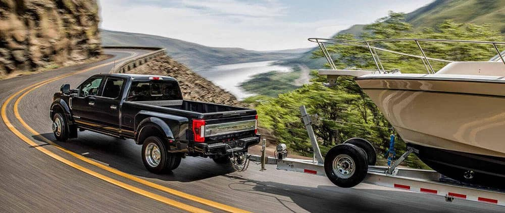 2018 Ford Super Duty Platinum towing
