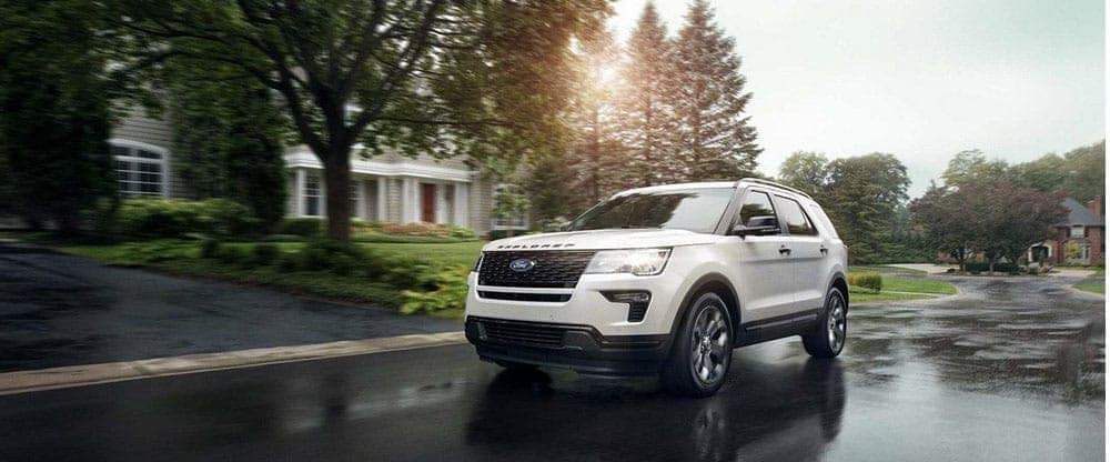 2019 Ford Explorer driving down street