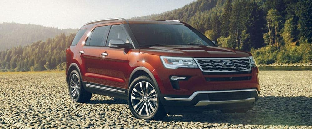 2019 Ford Explorer in beach