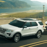 2019 Ford Explorer towing 5,000 pound boat