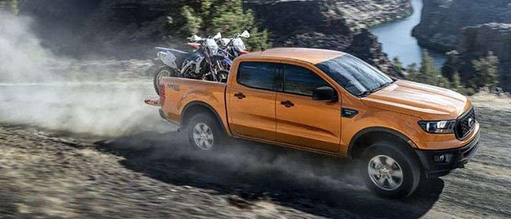 2019 Ford Ranger with motorcylces