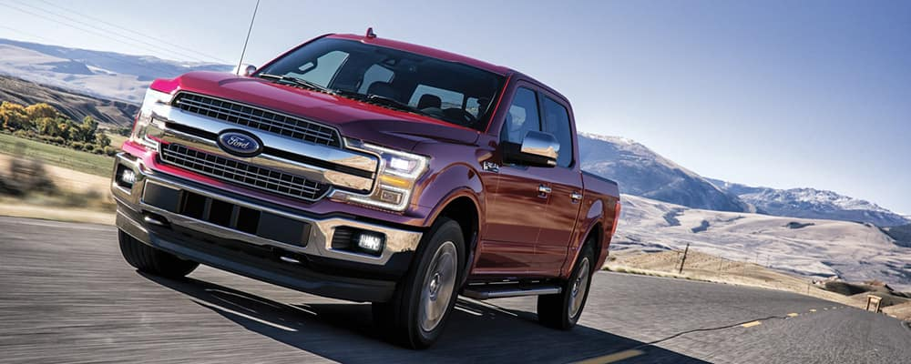 2020 Ford F-150 on highway banner