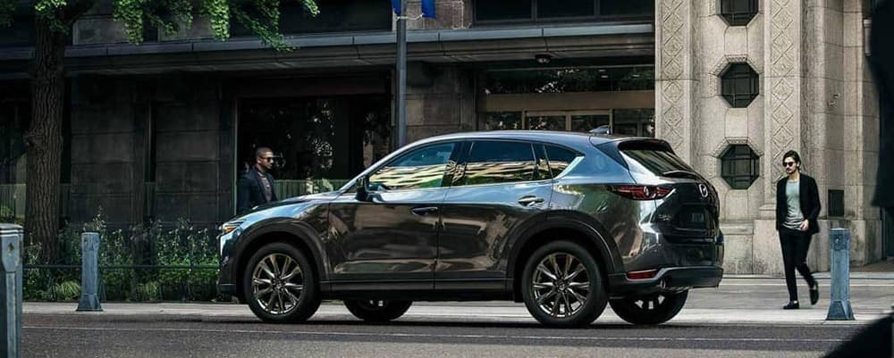 2019 Mazda CX-5 parked on street banner