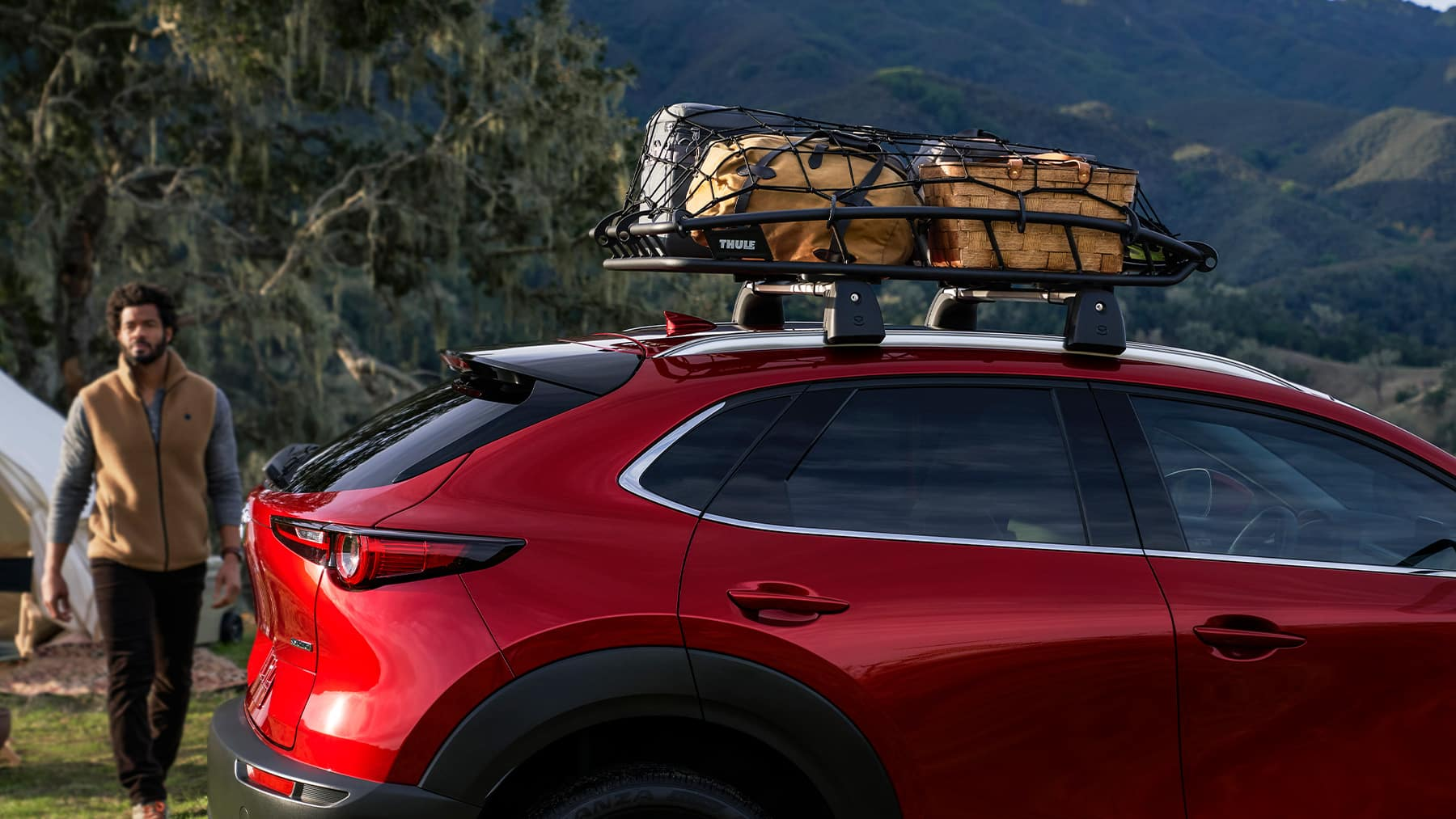 2020 Mazda CX-30 with roof cargo basket