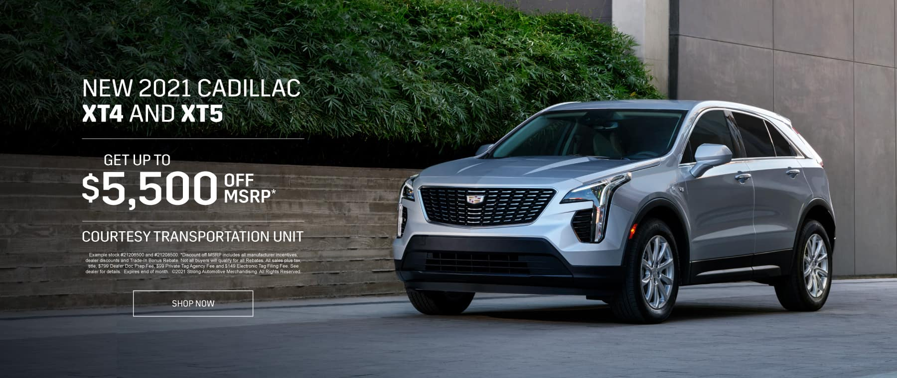 New 2021 Cadillac XT4 and XT5 - Get up to $5500 off msrp - Shop Now