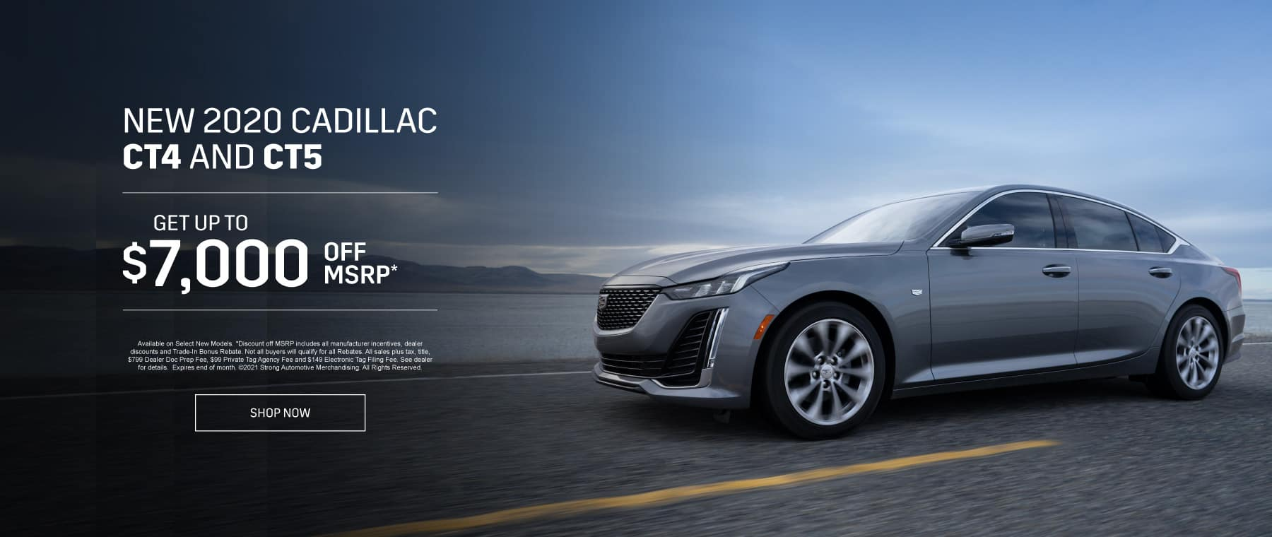 New 2020 Cadillac CT4 and CT5 - Get up to $7000 off msrp - Shop Now