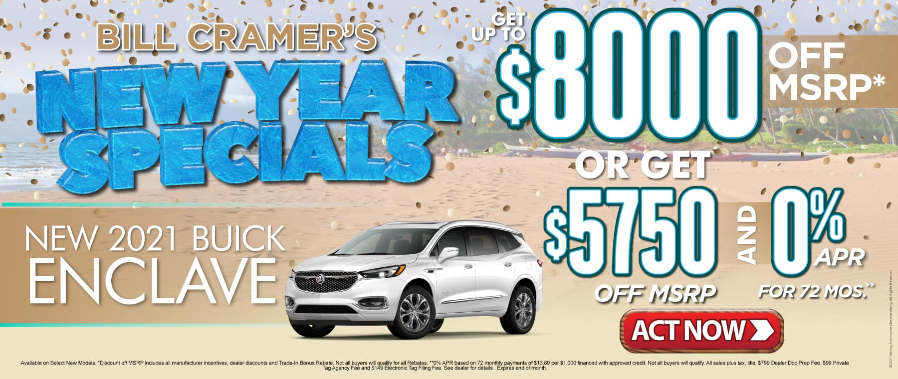 New 2021 Buick Enclave - Get up to $8000 off msrp - Act Now