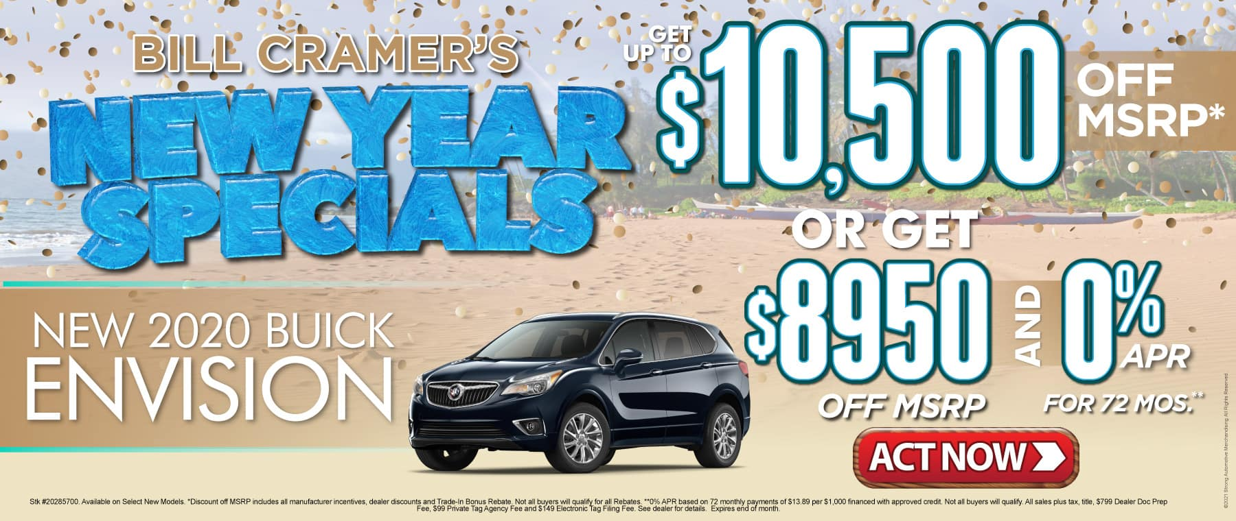 New 2020 Buick Envision - Get up to $10,500 off msrp - Act Now