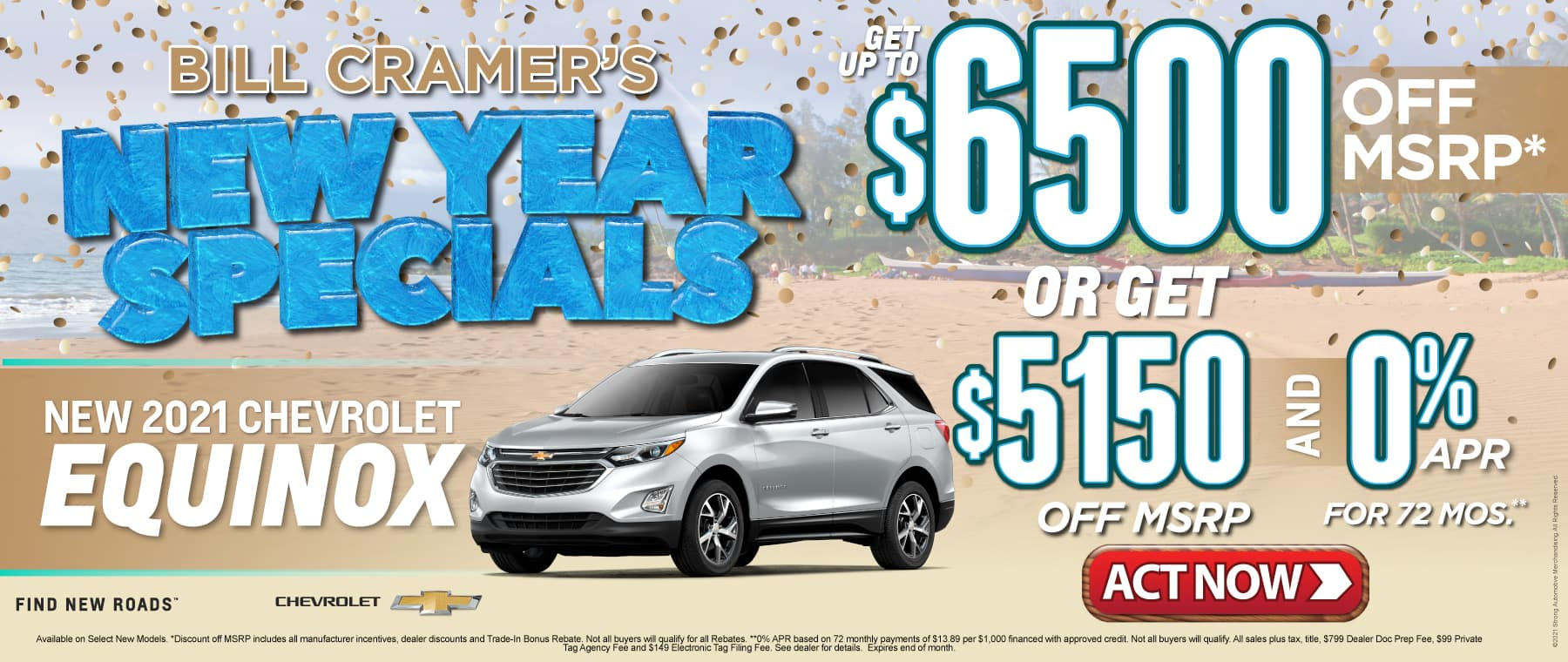New 2021 Chevrolet Equinox - Get up to $6500 off msrp - Act Now