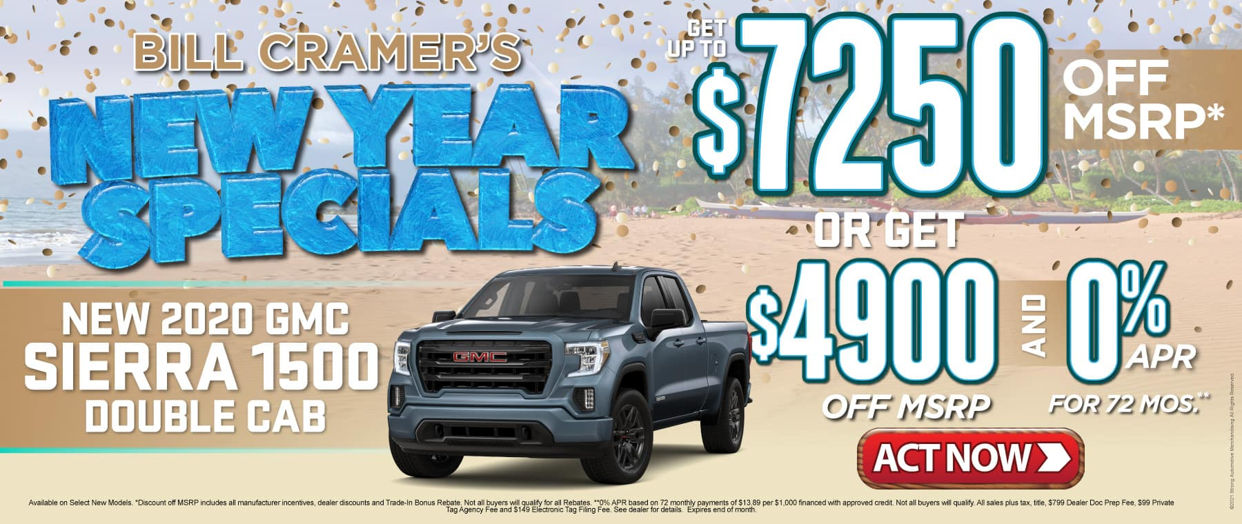 New 2020 GMC Sierra - Get up to $7250 off msrp - Act Now