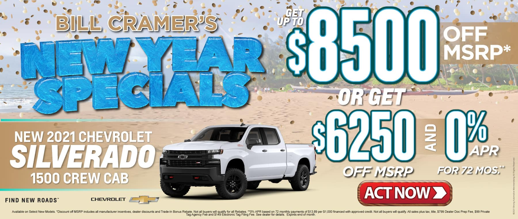 New 2021 Chevrolet Silverado - Get up to $8500 off msrp - Act Now