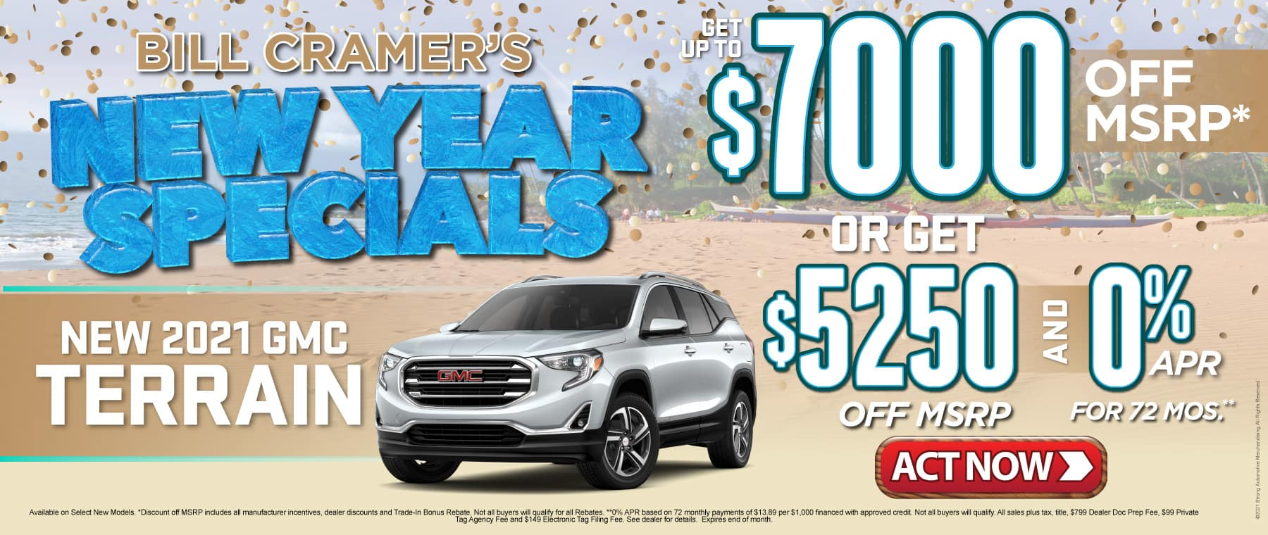 New 2021 GMC Terrain - Get up to $7000 off msrp - Act Now