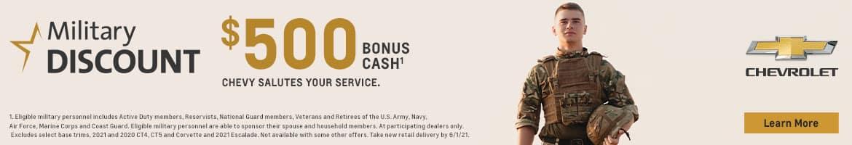 $500 Military Cash Bonus