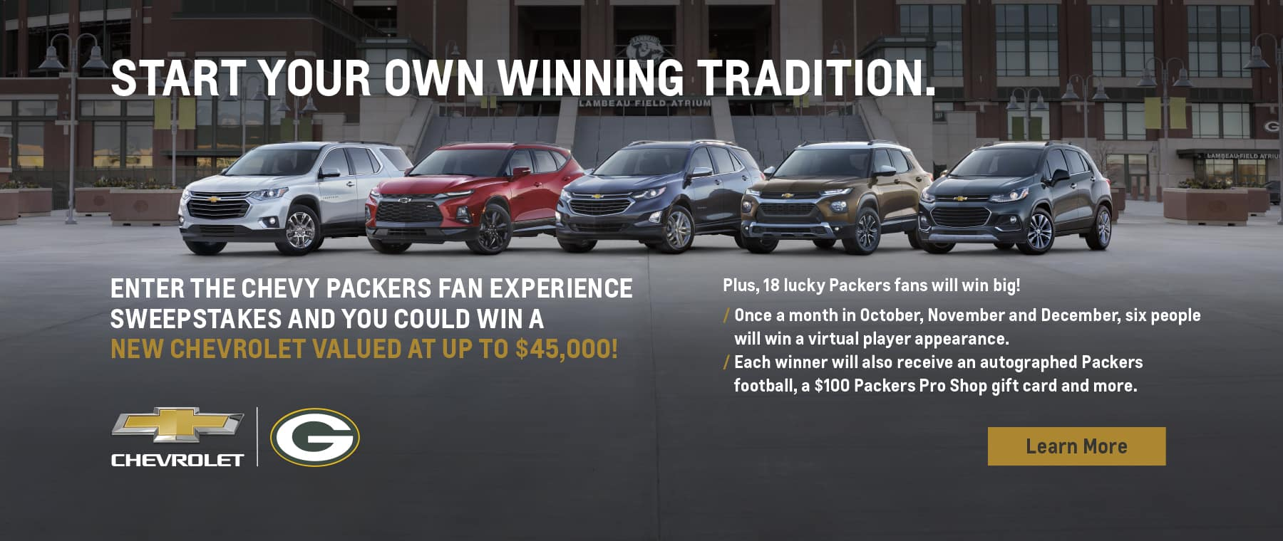 Chevrolet Packers Fan Experience Sweepstakes