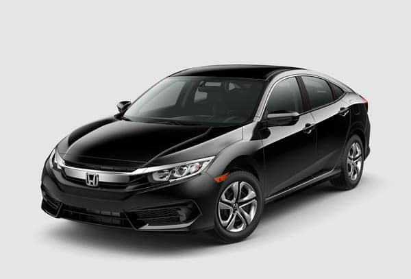 Black 2018 Honda Civic Sedan at an angle
