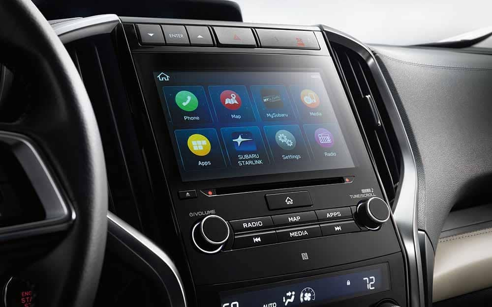 Touchscreen with Subaru Starlink Apps