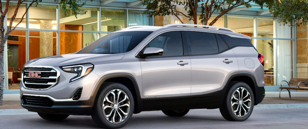 Silver 2018 GMC Terrain parked on the street