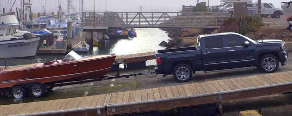 GMC Sierra 1500 towing a boat