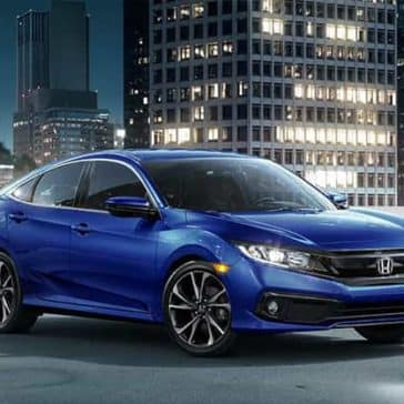 2019 Honda Civic with City Background