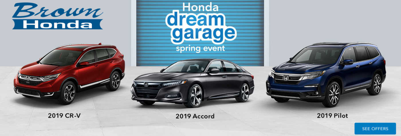 Brown Honda Dream Garage Spring Event