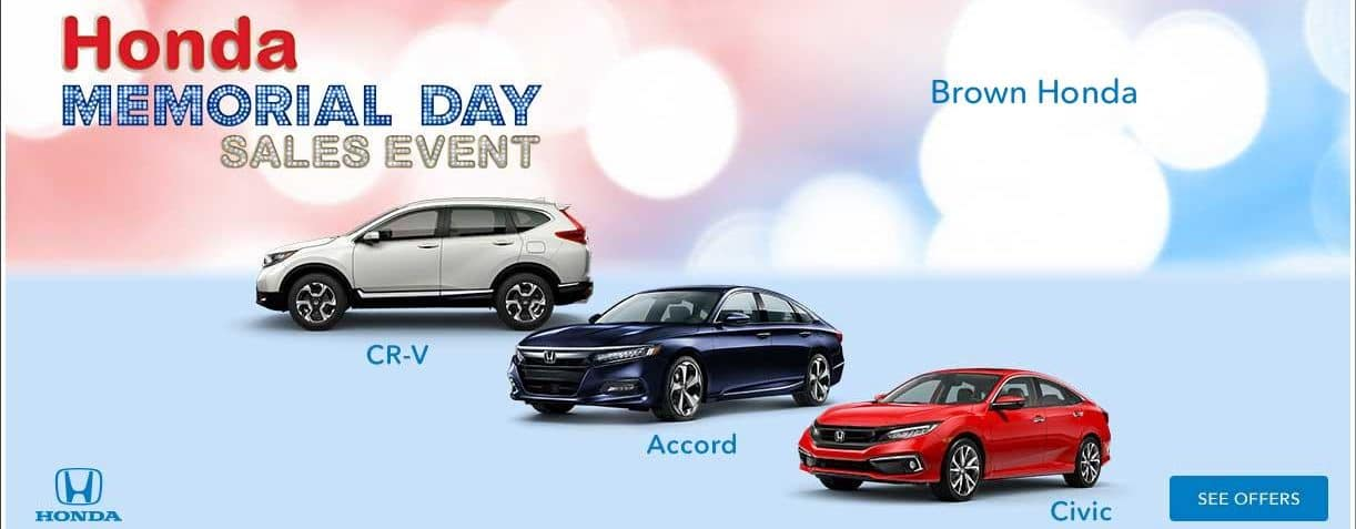 Honda Memorial Day Sales Event - Brown Honda