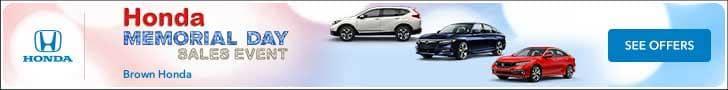 Honda Memorial Day Sales Event - Brown Honda
