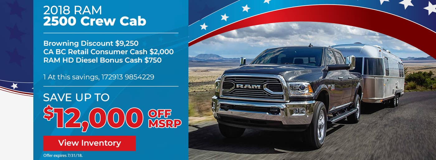 Save up to $12,000 off the New 2018 Ram 2500