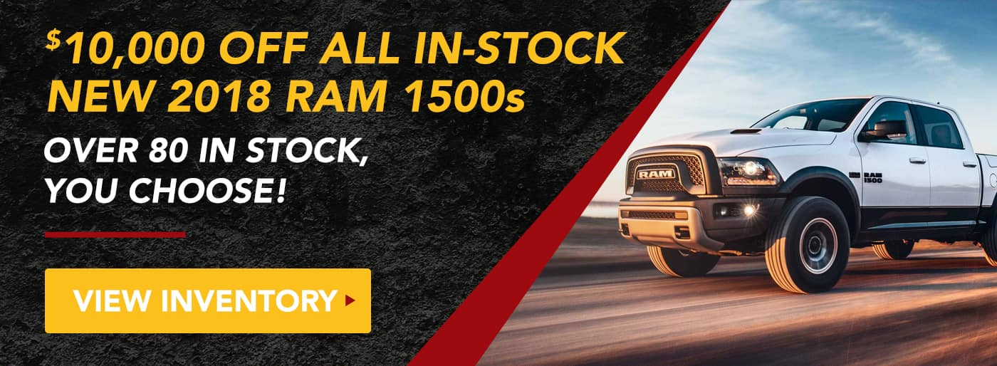 $10,000 off all in stock new 2018 RAM 1500s
